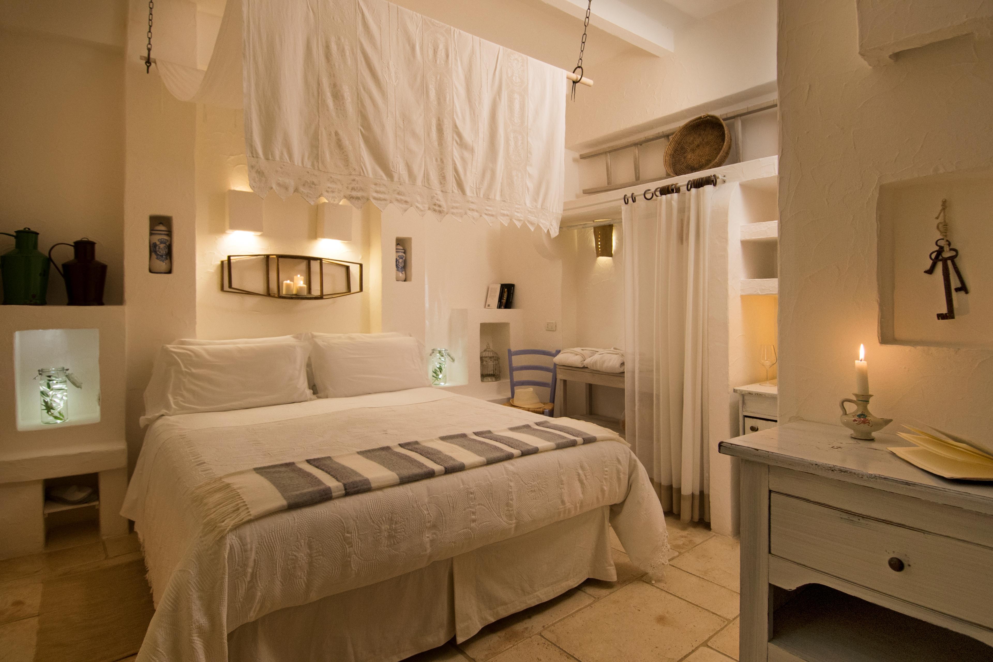 L acquaro camera romantica con bagno turco masseria - Camera da letto romantica ...